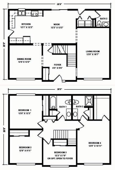 4 Bedroom Two Story Modular Home Floor Plans   Flisol Home