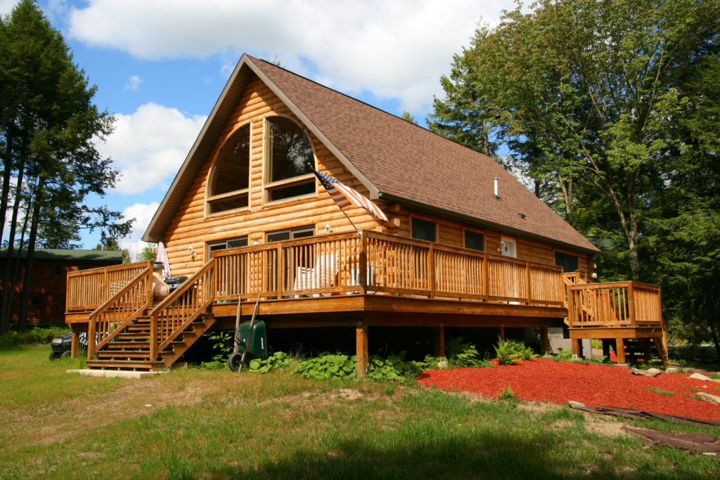 Log chalet with wrap around porch - Kintner Modular Homes on large log home, natural log home, treated log home, painted log home, flat log home, single log home, smooth log home, restored log home, small log home, standard log home, square log home, solid log home, plain log home,