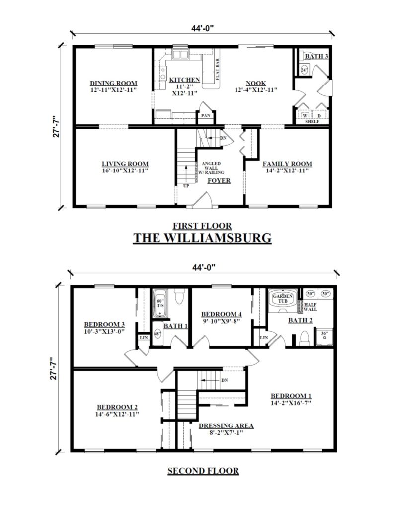 Two story modular floor plans kintner modular homes inc for 2 story floor plans