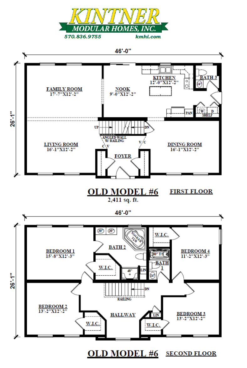 Spacious Two Story Modular Floor Plans