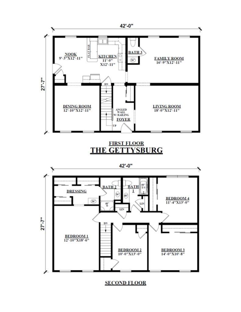 two story floor plans kintner modular homes