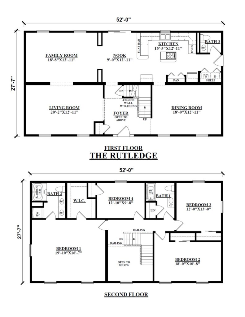 Two story floor plans for 2 story mobile home floor plans