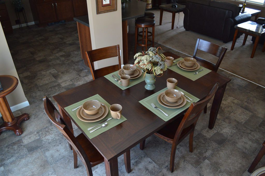Ranch Modular Home, Model #4 Dining Room